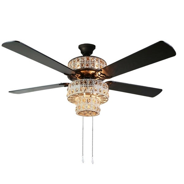 Shop antique white and champagne crystal ceiling fan on sale antique white and champagne crystal ceiling fan aloadofball Image collections
