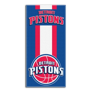 NBA 620 Pistons Zone Read Beach Towel