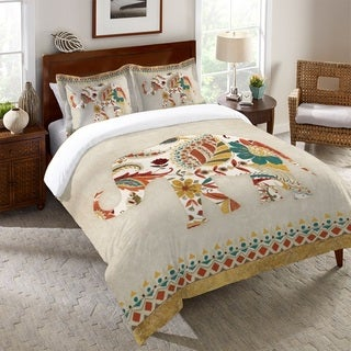 Laural Home Paisley Elephant Duvet Cover