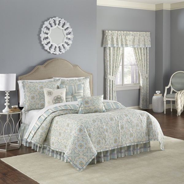 Waverly Astrid Reversible Mineral Quilt Collection Set