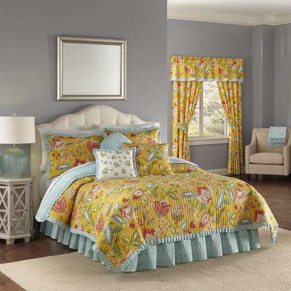 Waverly Modern Poetic Sunshine Cotton Quilt Set Free