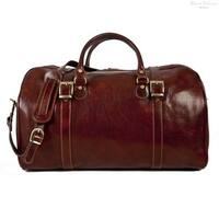 Alberto Bellucci Milano Italian Leather Torino Carry-on Weekender Getaway Travel Duffel Bag