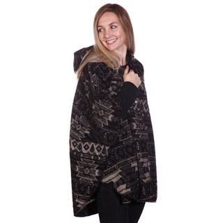Mazmania Women's Diablo Looped Wool Cape