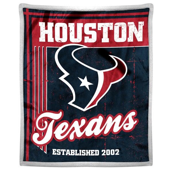 NFL 192 Texans Mink Sherpa Throw
