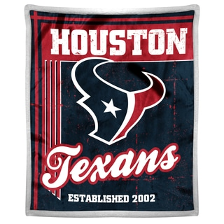 NFL 192 Texans Mink Sherpa Throw