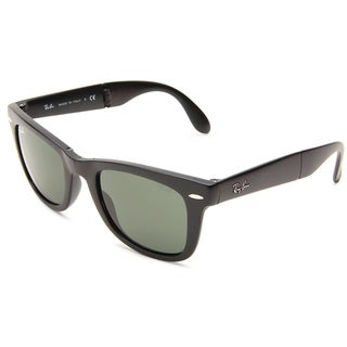 Ray-Ban Wayfarer Folding RB4105 Unisex Black Frame Green 54mm Lens Sunglasses