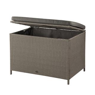 Ferrara Grey Wicker 80 Gal. Deck Box