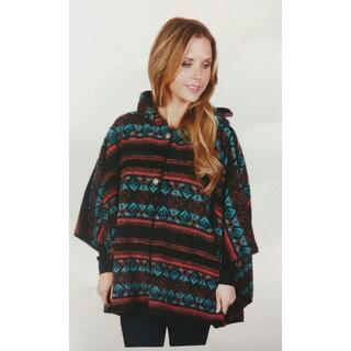 Mazmania Women's Fresno Looped Wool Cape