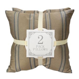 Home Accent Pillows Striped Satin Throw Pillows (Set of 2)