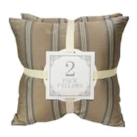 Home Accent Pillows Striped Satin Throw Pillows (Set of 2)