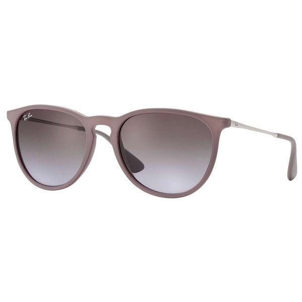 923fbe4e89a Shop Ray-Ban Erika RB4171 Women s Brown Silver Frame Brown Violet ...
