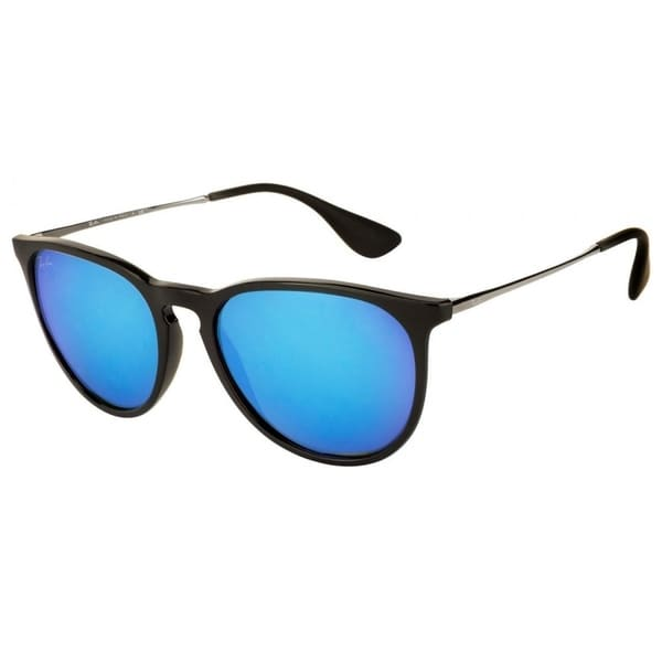 b2614921f86 Shop Ray-Ban Erika RB4171 601 55 Women s Black Silver Frame Blue ...