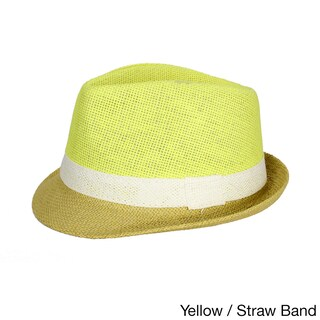 Cuban Style Unisex Fedora Short Brim Hat (3 options available)