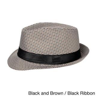 Cuban Style Unisex Fedora Short Brim Hat (2 options available)
