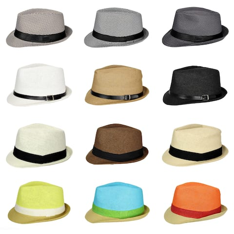 64fbe91aadf Buy Size One Size Fits Most Fedora Men's Hats Online at Overstock ...