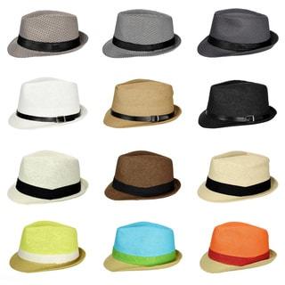 Cuban Style Unisex Fedora Short Brim Hat