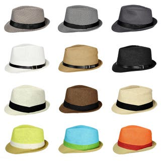 Cuban Style Unisex Fedora Short Brim Hat|https://ak1.ostkcdn.com/images/products/15299184/P21766735.jpg?impolicy=medium