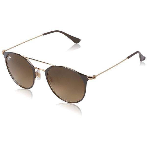 12afd0af44 Ray-Ban RB3546 Unisex Brown Gold Frame Brown Gradient 52mm Lens Sunglasses