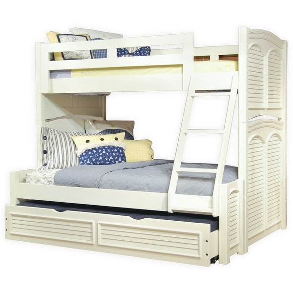 Shop Beachcrest Eggshell Twin Over Full Bunk Bed With