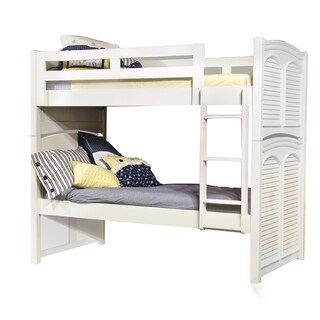 Greyson Living Girl's Beachcrest Eggshell White Twin Bunk Bed with Optional Trundle
