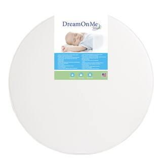 Dream On Me 4-inch Thick Round Crib Mattress - White
