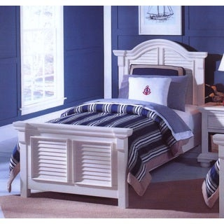 Beachcrest White Youth Panel Bed with Optional Trundle by Greyson Living (2 options available)