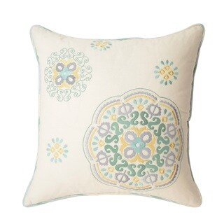 Waverly Astrid Square Embroidered Decorative Throw Pillow