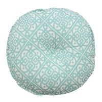 Waverly Modern Poetic Round Button-Tufted Decorative Throw Pillow