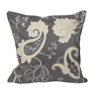Home Accent Pillows 20-inch Floral-embroidered Appliqued Throw Pillow