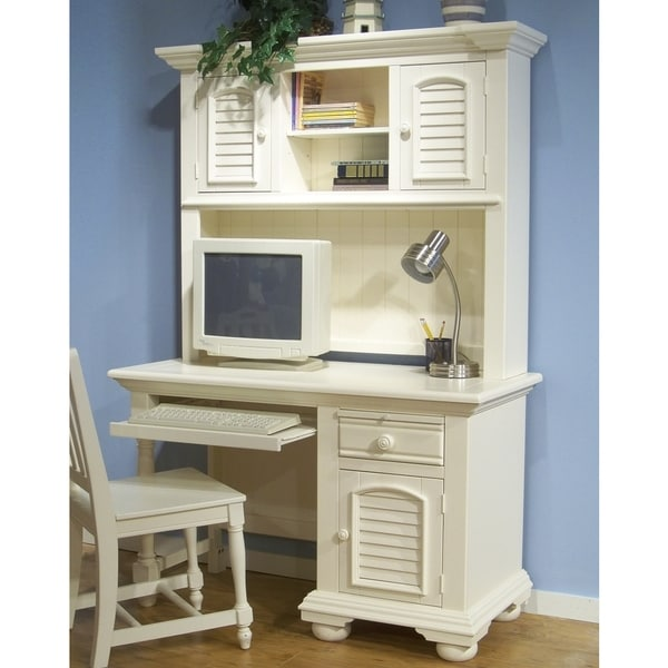 Shop Greyson Living Beachcrest puter Desk and Hutch