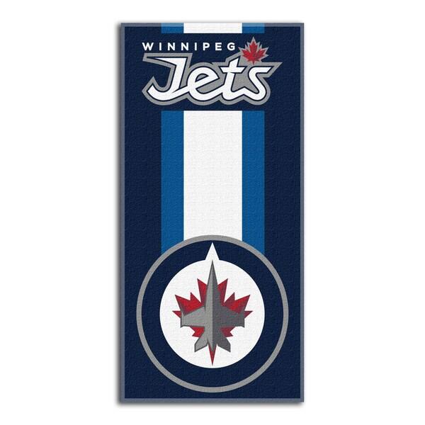 NHL 620 Winnipeg Jets Zone Read Beach Towel