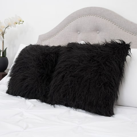 3539b09f4fa Buy Black, Faux Fur Throw Pillows Online at Overstock | Our Best ...