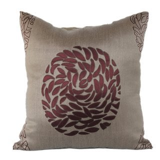 Bronze Silk Asian Decor Embroidered Throw Pillows (Set of 2)