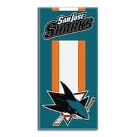 NHL 620 Sharks Zone Read Beach Towel