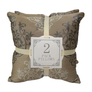 Home Accent Bronze Silk Throw Pillows (Set of 2)