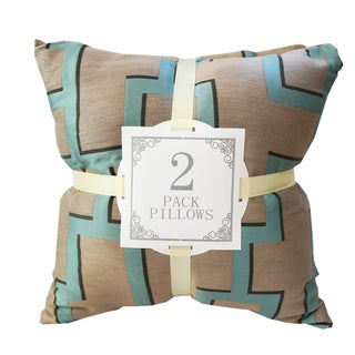 Bronze Silk Geometric Throw Pillows (Set of 2)