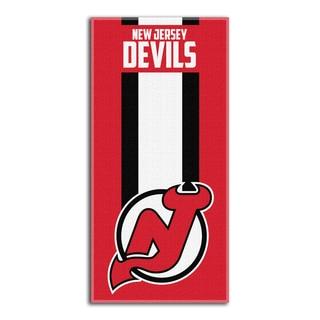 NHL 620 Devils Zone Read Beach Towel