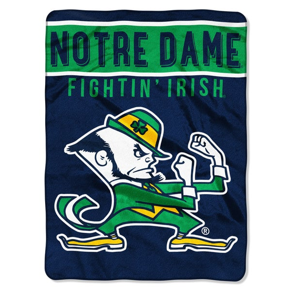COL 803 Notre Dame Basic Raschel Throw