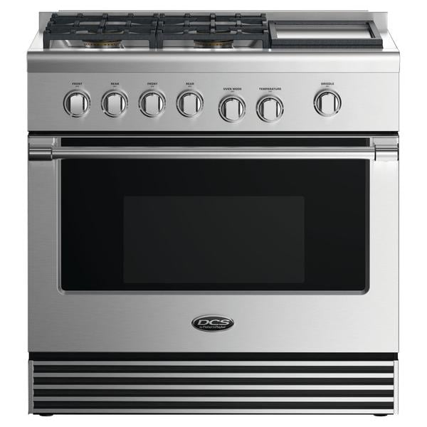 shop dcs 36 gas range 4 burners with griddle free shipping today rh overstock com