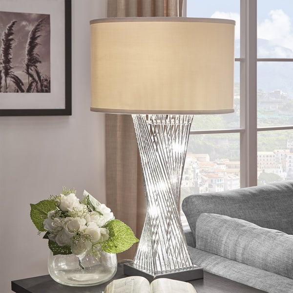 Shop Aquila Caged Table Lamp With Led Night Light By Inspire Q Bold