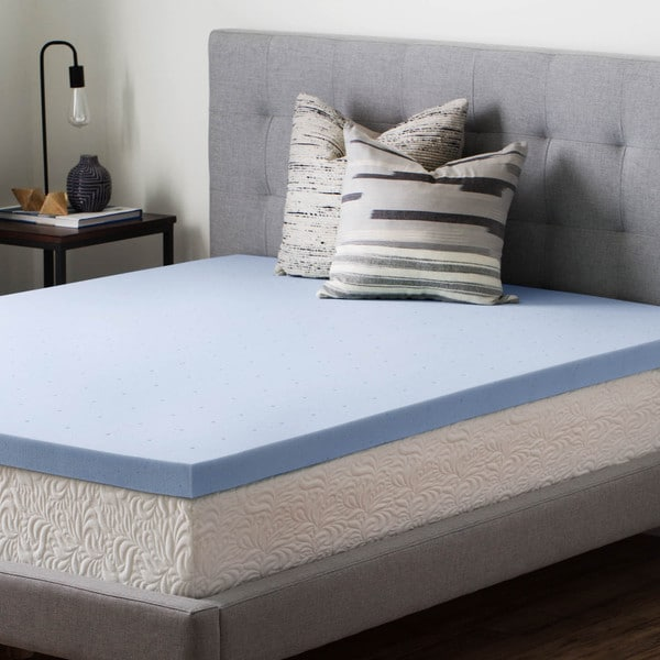 shop brookside 2 5 inch gel infused memory foam mattress topper on sale free shipping today. Black Bedroom Furniture Sets. Home Design Ideas