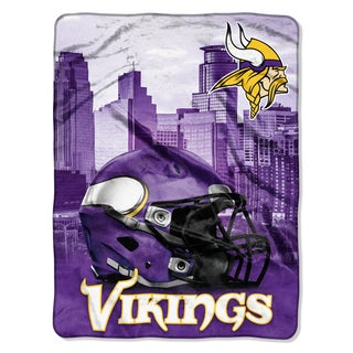 NFL 071 Vikings Heritage Silk Touch Throw