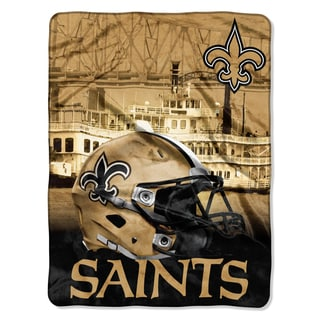 NFL 071 Saints Heritage Silk Touch Throw