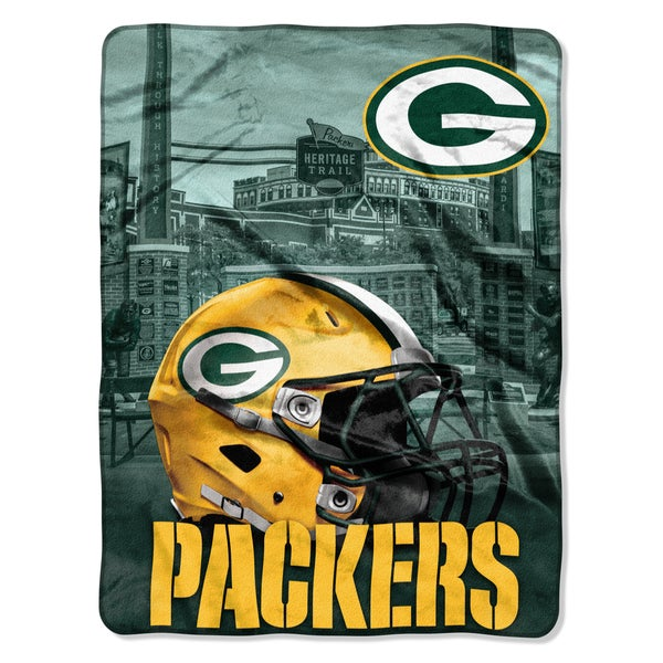 NFL 071 Packers Heritage Silk Touch Throw