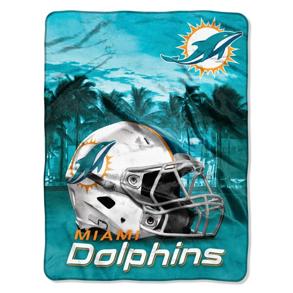 NFL 071 Dolphins Heritage Silk Touch Throw