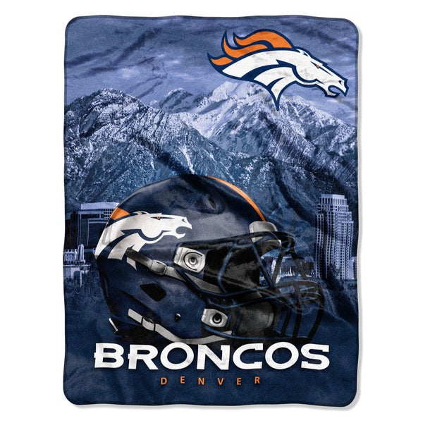NFL 071 Broncos Heritage Silk Touch Throw