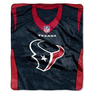 NFL 07080 Texans Jersey Raschel Throw
