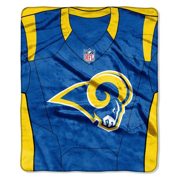 NFL 07080 Rams Jersey Raschel Throw
