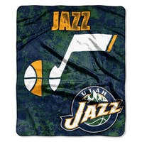 NBA 670 Jazz Dropdown Raschel Throw