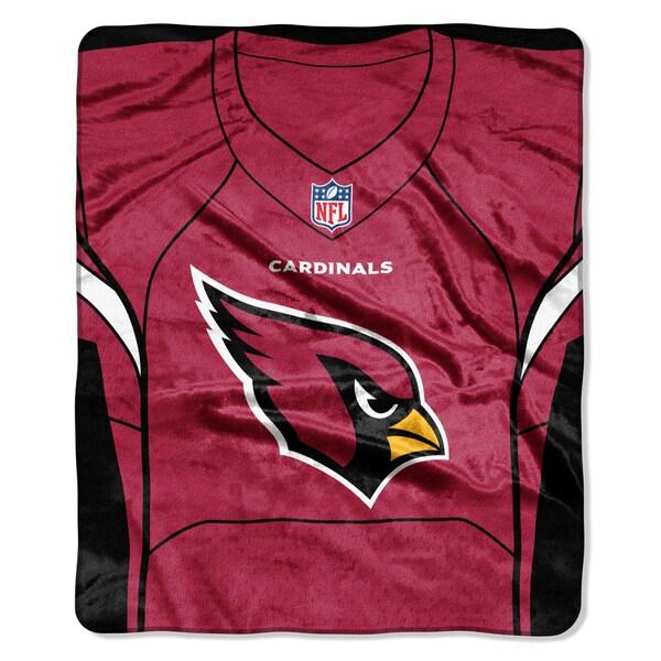 NFL 07080 Cardinals Jersey Raschel Throw